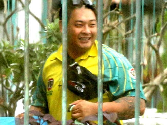 Holding up ... Andrew Chan inside Kerobokan Jail on Wednesday. Picture: Adam Taylor