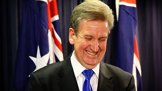 NSW Premier Barry O'Farrell annoucend that Crown has approval to move forward in the approval process to build a second casino in Sydney. Pictured in NSW Parliament House Sydney Picture: Greenhill Craig