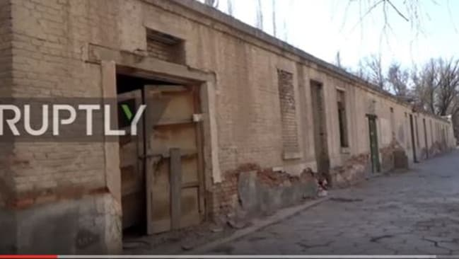 Other streets remain empty in the town that was once home to one million people. Picture: RUPTLY