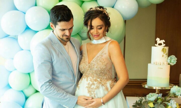 Former MKR stars Zana and Gianni throw lavish 'royal' baby shower