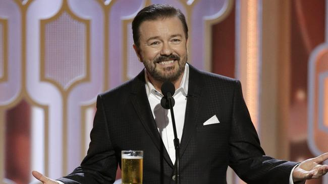 Ricky Gervais was quick to dispel speculation he agreed with his comedy character's views. Picture: Paul Drinkwater/NBCUniversal via Getty Images