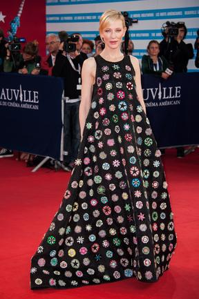 Cate Blanchett arrives at the premiere of the movie 'Blue Jasmine' during the 39th Deauville American film festival in Deauville, France. Picture: Getty