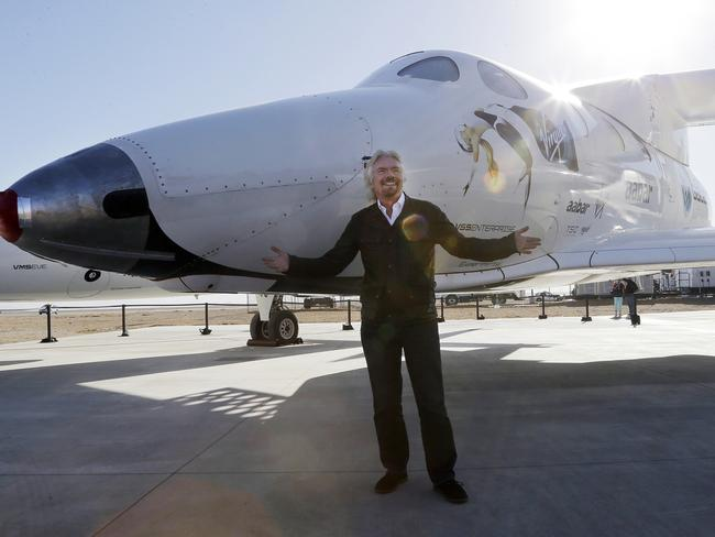 Big sky dreaming ... Sir Richard Branson vowed to become an astronaut by the end of the year.