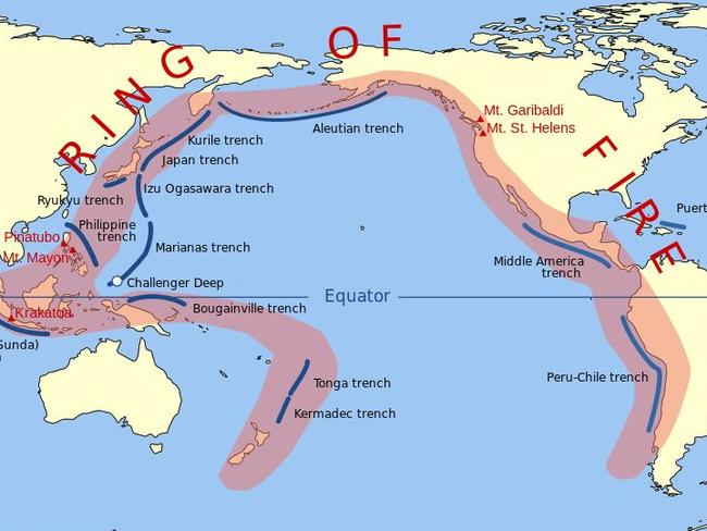 The Ring of Fire is where the worst earthquakes and tsunamis occur.