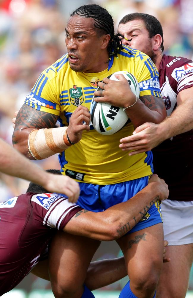 Fuifui Moimoi will be playing his 200th NRL match when the Eels take on the Sharks on Saturday. .Picture Gregg Porteous