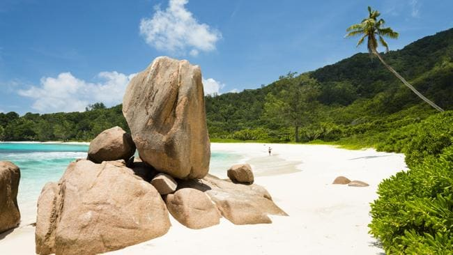 Anse Cocos on the east coast of La Digue. Picture: Justin Foulkes: Lonely Planet Traveller Magazine