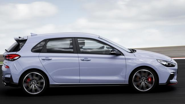 The Hyundai i30 N comes in two guises — standard and performance pack. Pic: Supplied.
