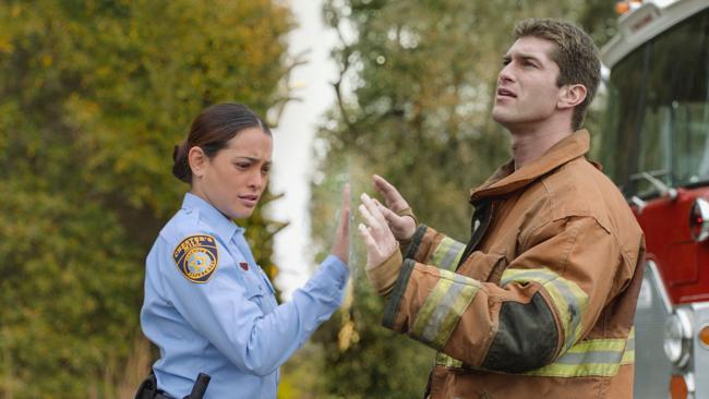 Natalie Martinez and Josh Carter in Under the Dome. Picture: Supplied