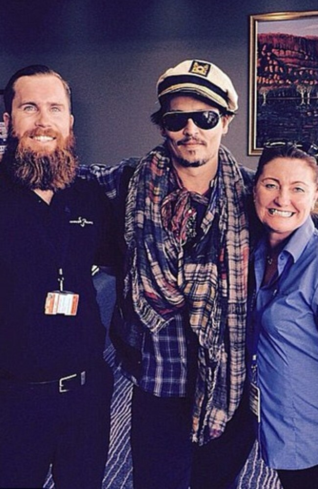 pirates of the caribbean star johnny depp hits queensland gold coast bulletin. Black Bedroom Furniture Sets. Home Design Ideas