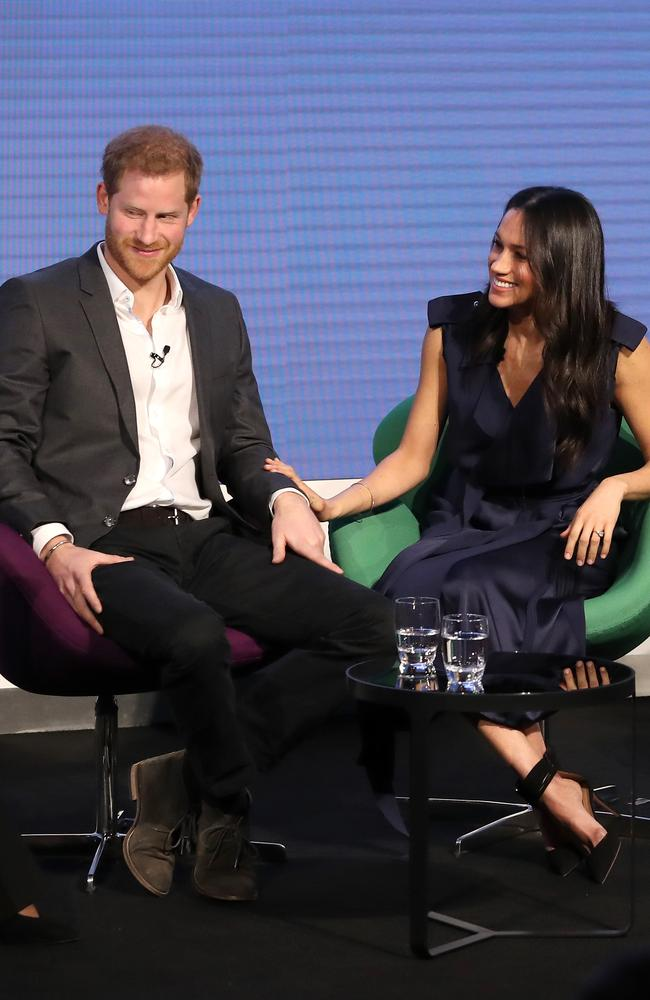 Prince Harry and Meghan Markle in London. Picture: AFP/Chris Jackson