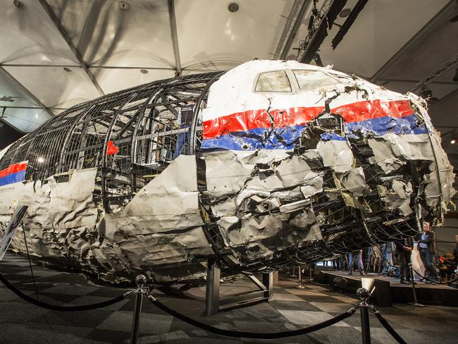 Almost nothing left ... the MH17 plane's remains. Picture: Ella Pellegrini