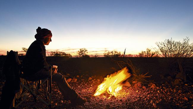 Photograph taken of a campsite in the Outback. Picture: Richard Green