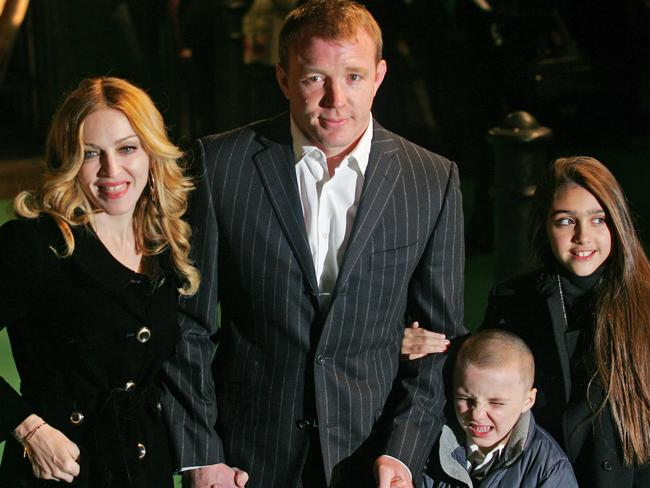 Madonna and then husband Guy Ritchie and children Rocco and Lourdes in 2007. Picture: Supplied