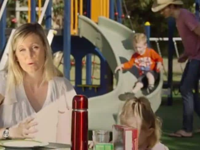 'Model family' ... the conventional family represented in the advertisement is a mother, father and two children. Picture: YouTube