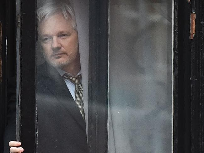 Internet down at the Assange residence. Picture: Ben Stansall/AFP