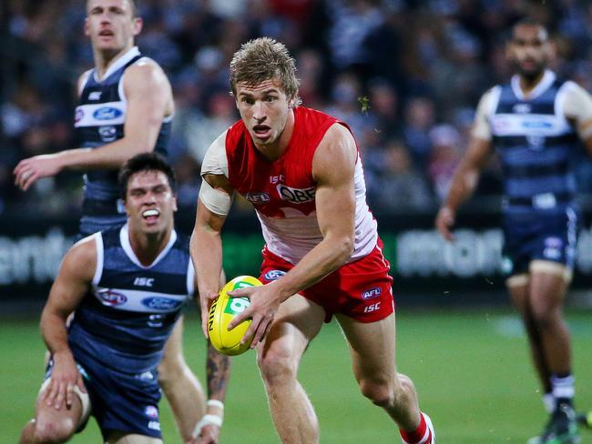 Kieren Jack in action for the Sydney Swans.