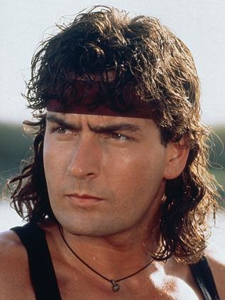 Action hero: Charlie Sheen was a teen heart-throb in 1991's Hot Shots.