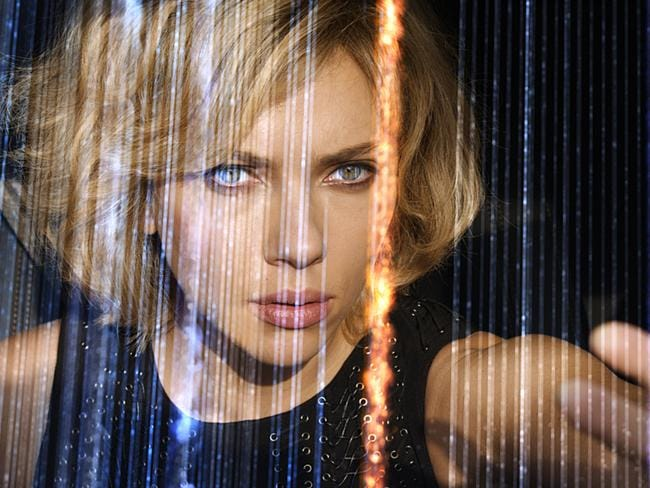 Johansson's character runs rings around her mismatched adversaries in <i> Lucy</i>.