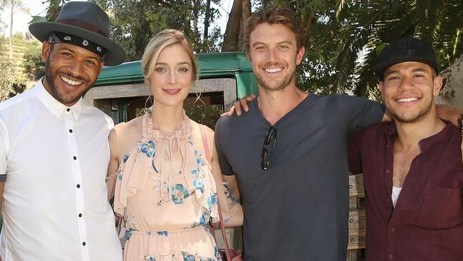 Adam Demos with his UnREAL co-stars. Picture: News Corp