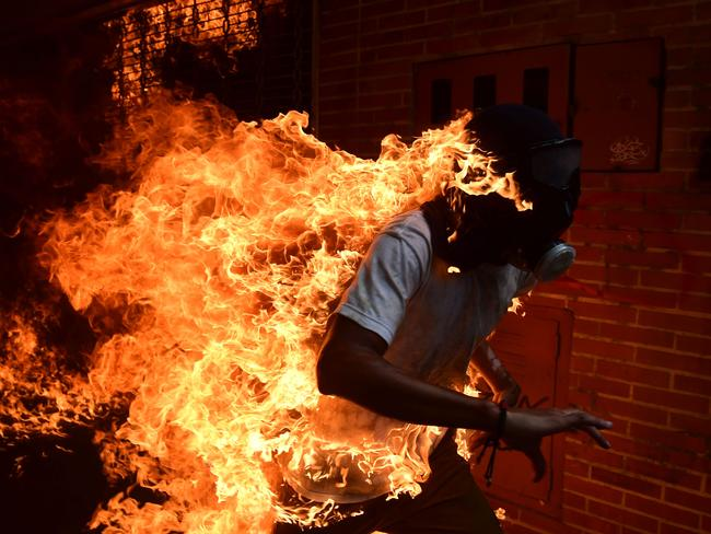 At least 35 people have died over a month of protests in Venezuela. Picture: Ronaldo Schemidt.
