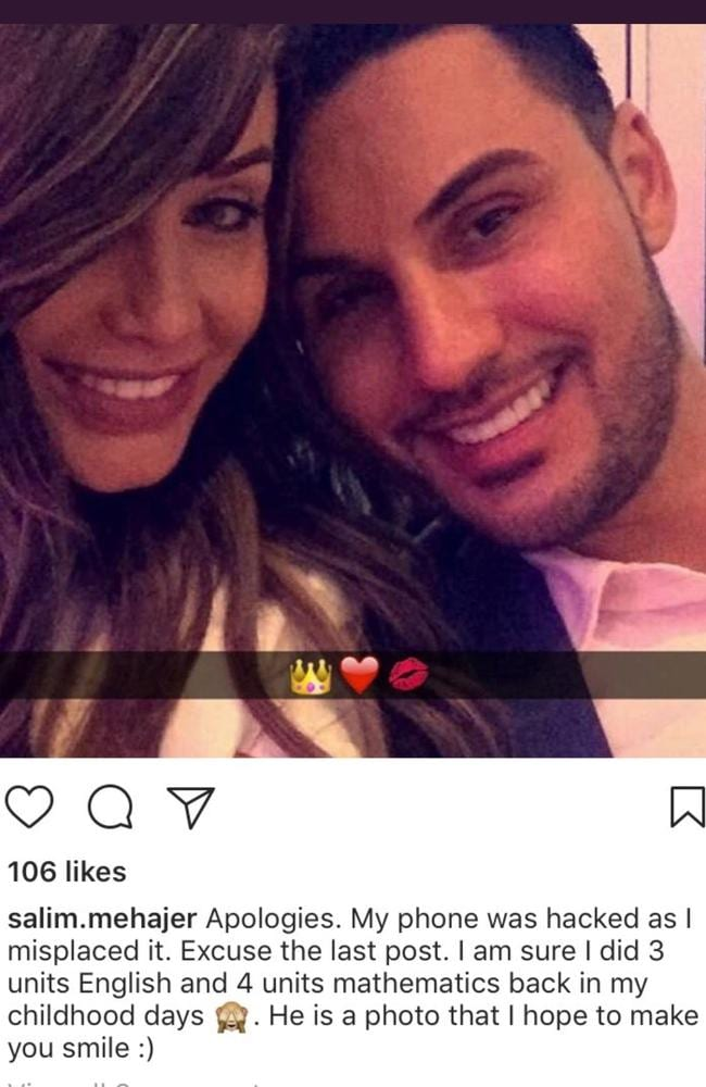 The Instagram post that Salim Mehajer has since deleted.