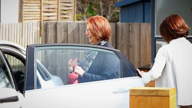 Former Prime Minister Julia Gillard leaves her Altona home on September 8, 2013 in Melbourne, Australia.