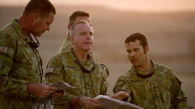 Major General John Cantwell (pictured centre) was the Commander in charge of Australian troops in the Middle East. Picture: Sergeant Neil Ruskin