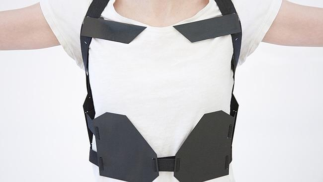 How's that for a strap line? This vest loaded with sensors and actuators deliver the physical feedback. Source: Flickr
