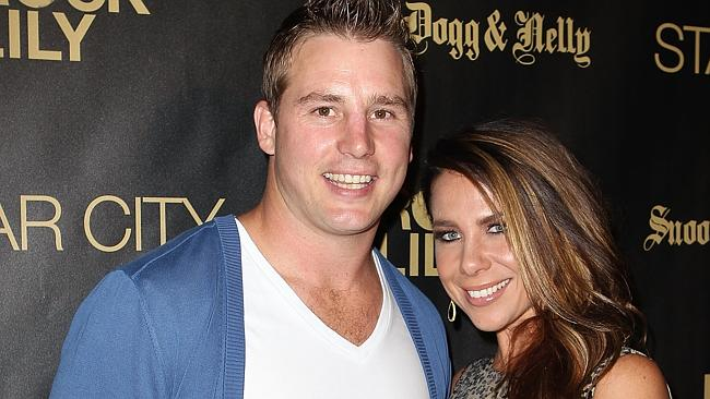 Kate Ritchie and Stuart Webb out in Sydney. Picture: Mark Metcalfe/Getty