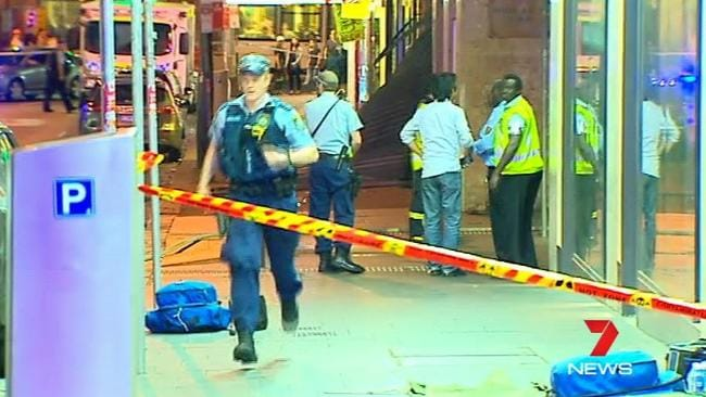 Emergency services remain at the scene. Picture: Channel 7