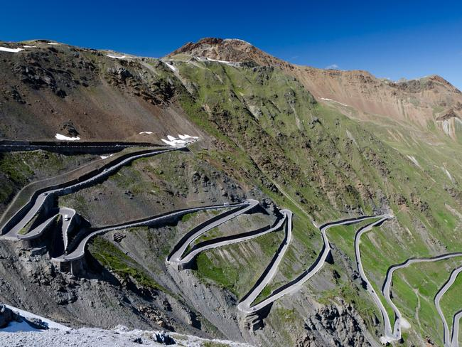 The Stelvio Pass, Italy. Trentino. Picture: Alamy