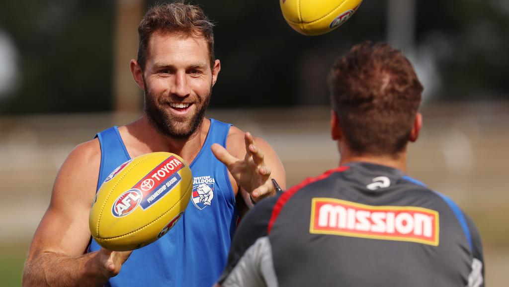 Travis Cloke will play his first game as a Bulldog in Round 1. Picture: Michael Klein