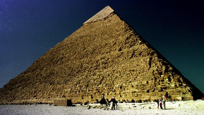 As it is today ... the Great Pyramid of Cheops in Giza, Egypt. It is still a magnet for tourists.