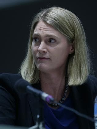 Paying their fair share? Maile Carnegie from Google Australia during the hearing.