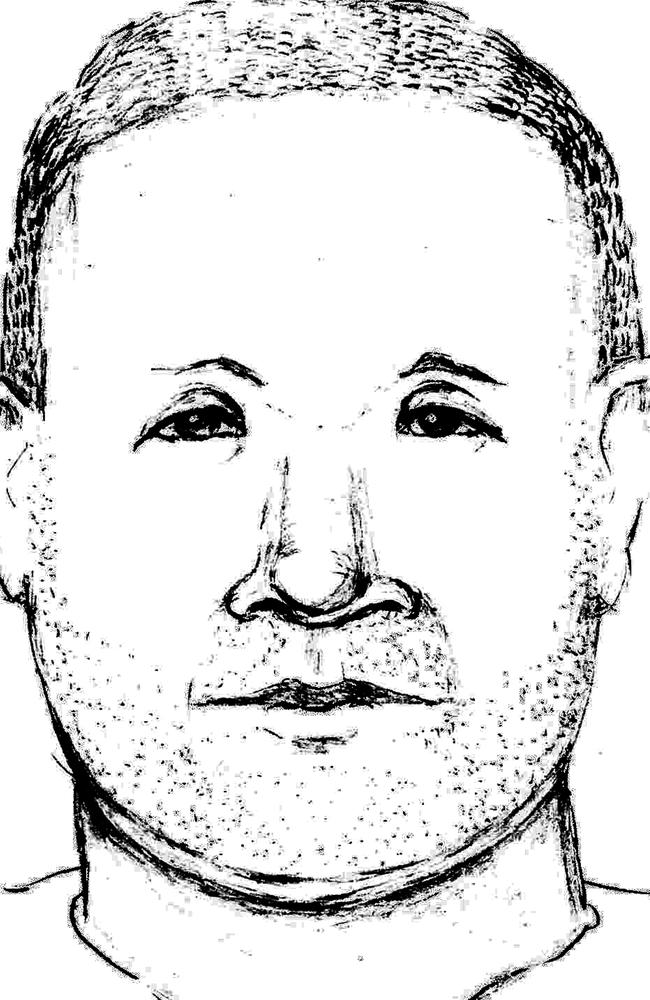 Wanted ... a man's likeness drawn from a description provided by Abigail Hernandez, who drove her away from North Conway. Picture: New Hampshire Attorney General's Office