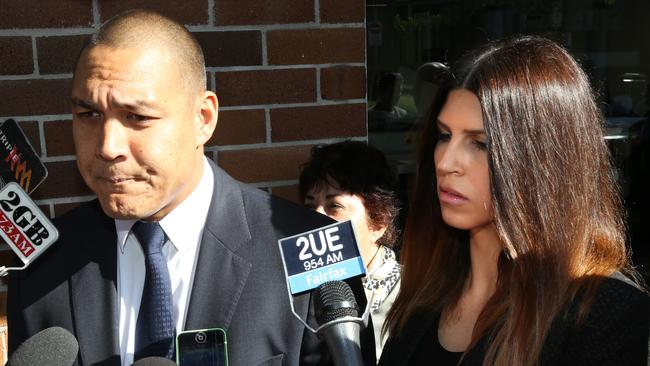 Busted ... Geoff Huegill and his wife Sara were caught with cocaine at the races in Sydney last year, but they're hardly the first celebs to use drugs socially.