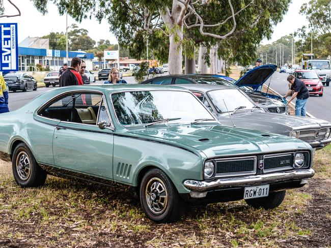 Owners of some of Holden's most iconic cars have gathered outside the factory. Picture: AAP