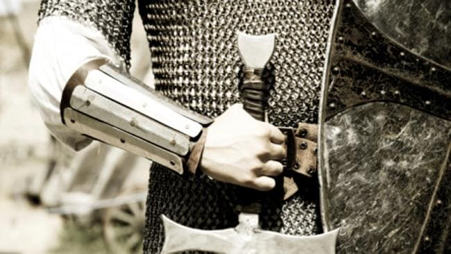 Mary-Anne's real life knight in shining armour. Picture: Thinkstock.