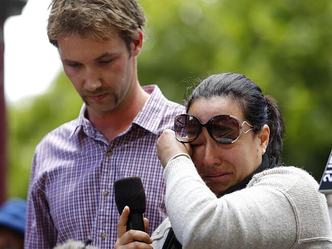 Simon Cramp, with Mariam Taiba, wants mandatory sentences for assaults like the one that killed Thomas Kelly. Picture: Bradley H