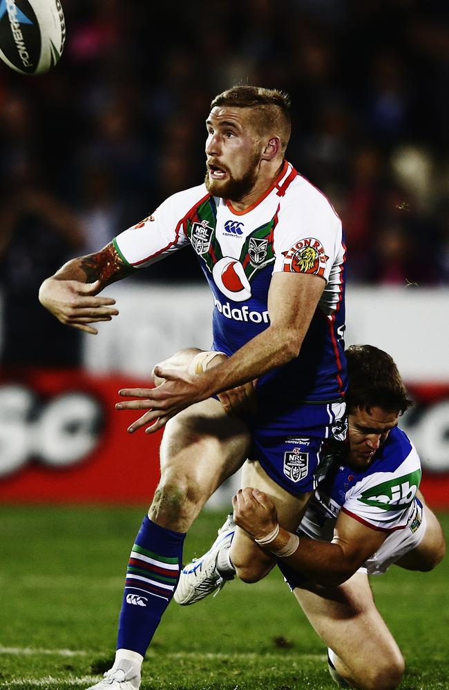 Sam Tomkins played an influential role in the Warriors' win over the Knights.
