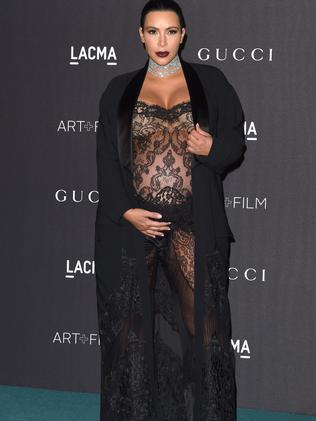 Mum-to-be ... Kim Kardashian West in November — a month before Saint was born. Picture: Axelle/Bauer-Griffin/FilmMagic