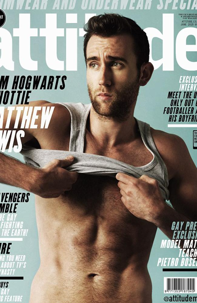 Matthew Lewis poses for the June issue of Attitude magazine.