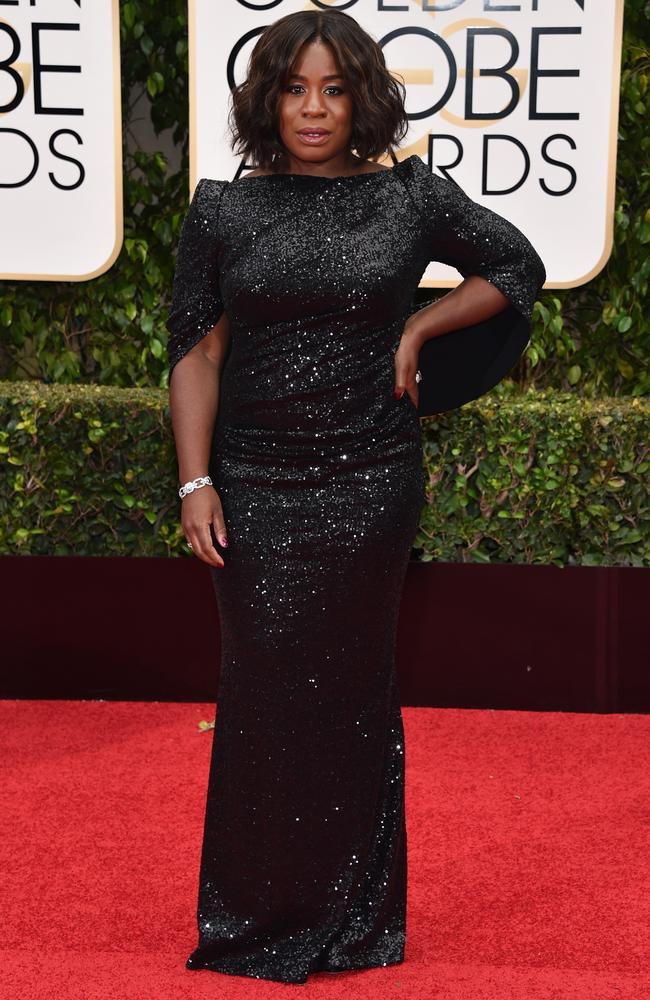 Glitz and glam ... Uzo Aduba attends the 73rd Annual Golden Globe Awards. Picture: Getty