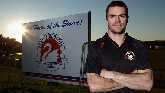 Matthew Scarlett after being announced as a new recruit for South Barwon Football Club. Picture: Hamish Blair