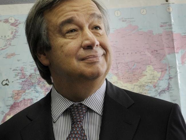 The UN High Commissioner for Refugees, Antonio Guterres.