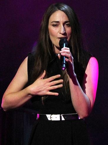Bareilles on stage in New York. Picture: Getty