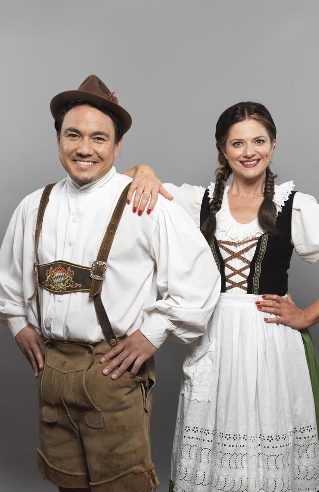 Eurovision stars ... SBS hosts Sam Pang and Julia Zemiro have also been SBS's secret weapons to win over the Europeans to the Australian cause. Picture: Supplied.