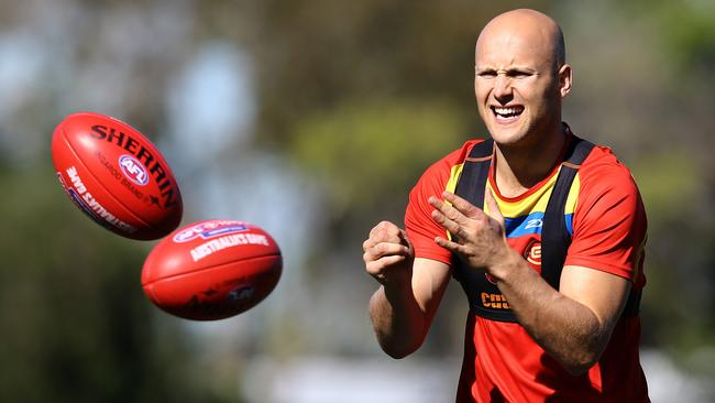 Gary Ablett at Gold Coast training during the week. Picture: David Clark