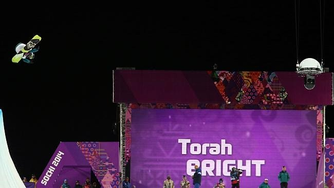 Torah Bright of Australia wins the silver medal during the Snowboarding Women's Halfpipe at the Rosa Khutor Extreme Park.