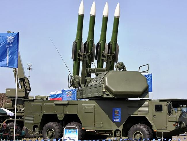 A BUK missile system similar to the one thought to be responsible for bringing down MH17